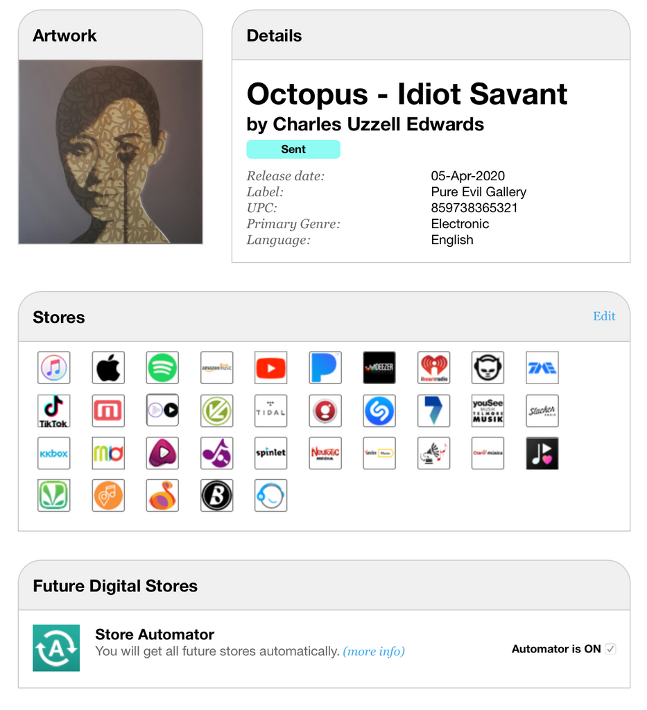 Octopus - Idiot Savant NEW ALBUM