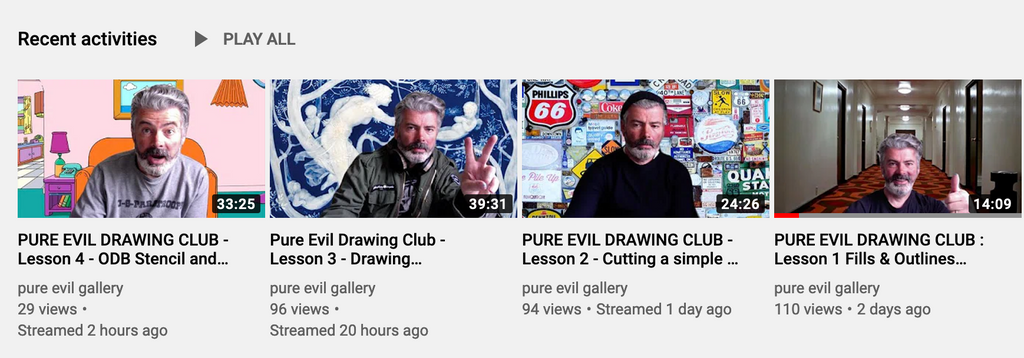 Pure Evil Drawing Club ONLINE