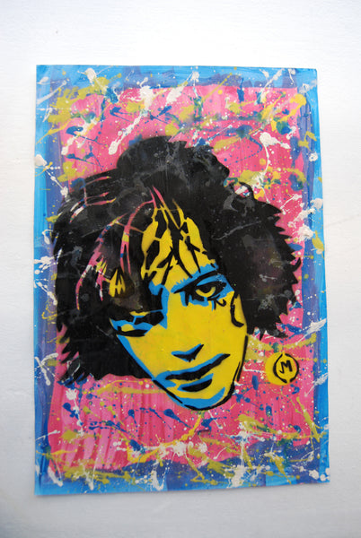 Cartooneros - Syd Barrett Stencil Yellow Face