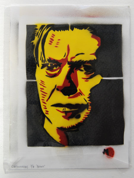Cartooneros - Bowie Stencil Yellow