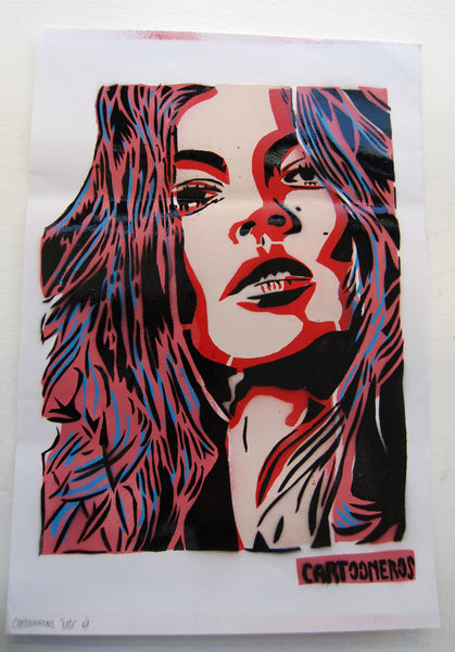 Cartooneros - Kate Moss - Red Blue Hair