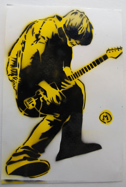 Cartooneros - Thurston Moore stencil yellow