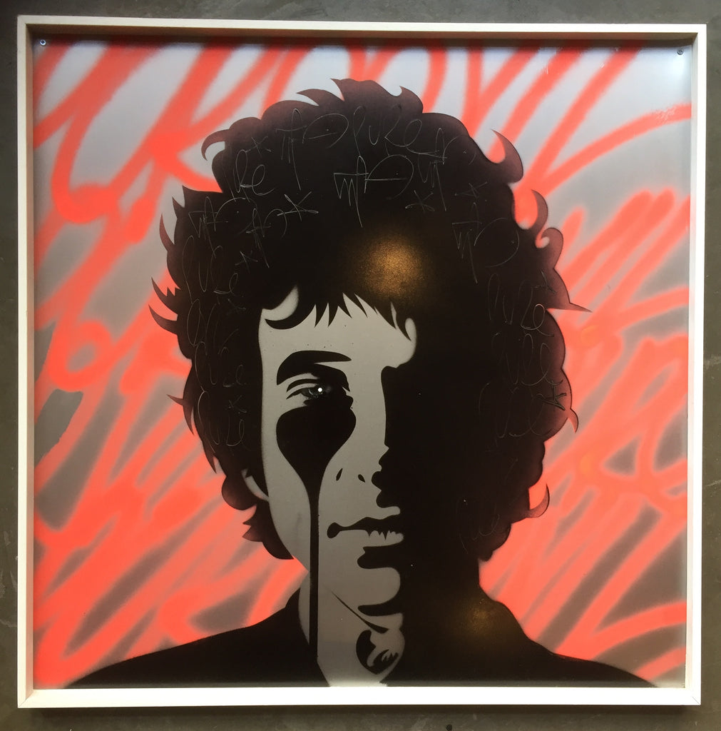 Dylan on Metal - Flouro Orange Framed