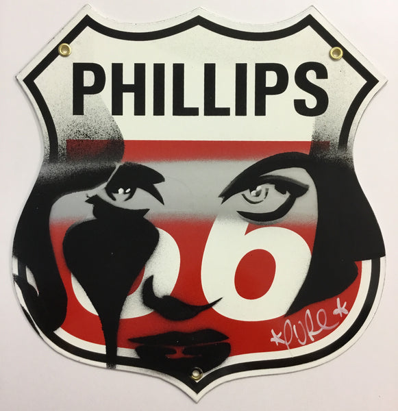 Jane Fonda Phillips 66 'Sweet Jane' Gasoline Sign