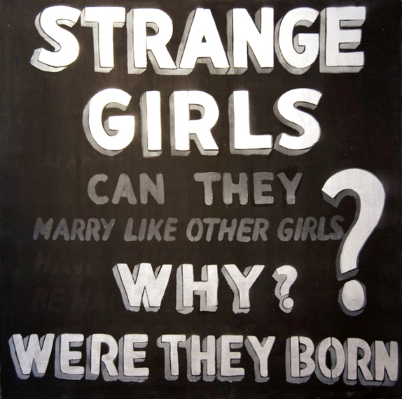 The Original canvas from the STRANGE GIRLS show before the addition of the Jackie