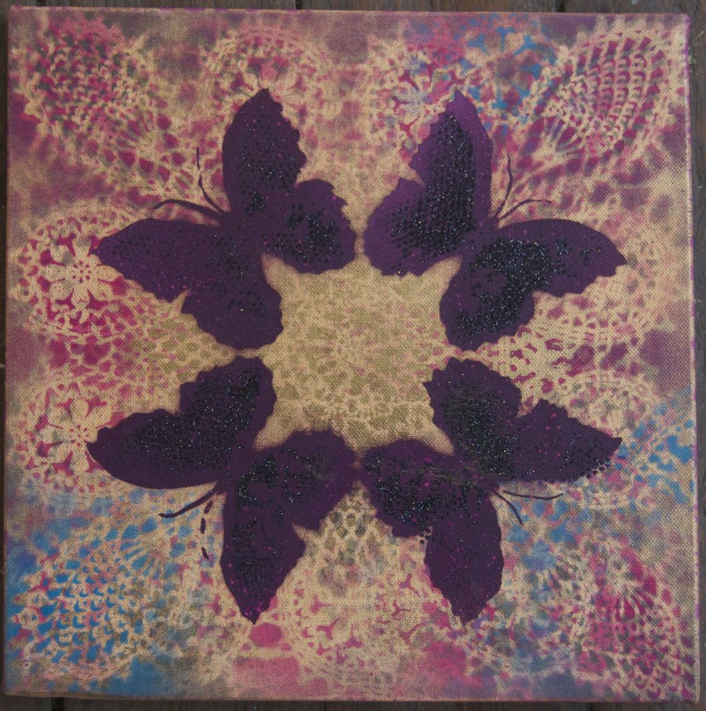 Crossie - Kaleidoscope - Red Cherry on Canvas