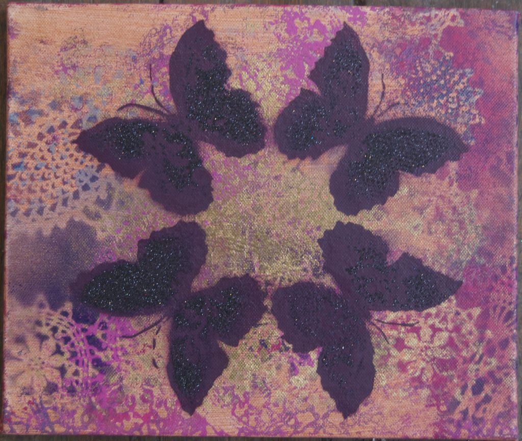 Crossie - Kaleidoscope - Lace Wing on Canvas