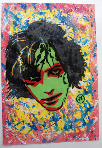 Cartooneros - Syd Barrett Stencil Green Face