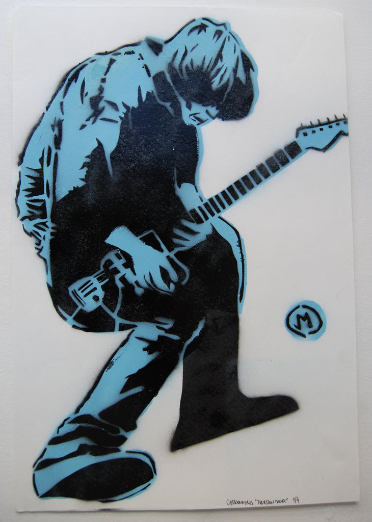 Cartooneros - Thurston Moore stencil Blue
