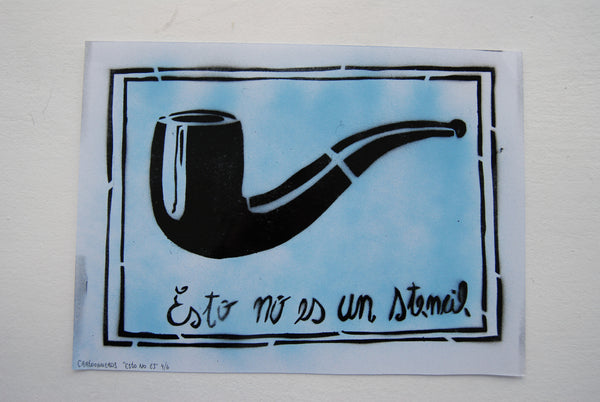 Cartooneros - This is not a stencil - Blue