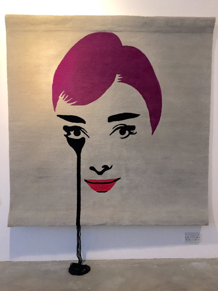 Mel Ferrers's Nightmare (Floating Audrey) Tapestry