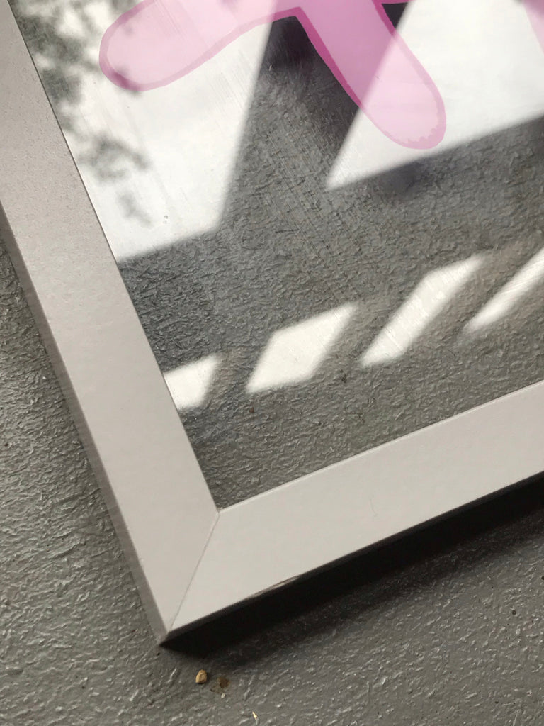 Medium Bunny Tag in grey frame - Jelly and blancmange