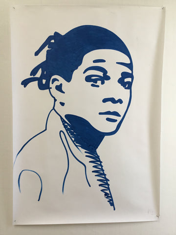 Basquiat - Swedish Show KRINK drawing on paper