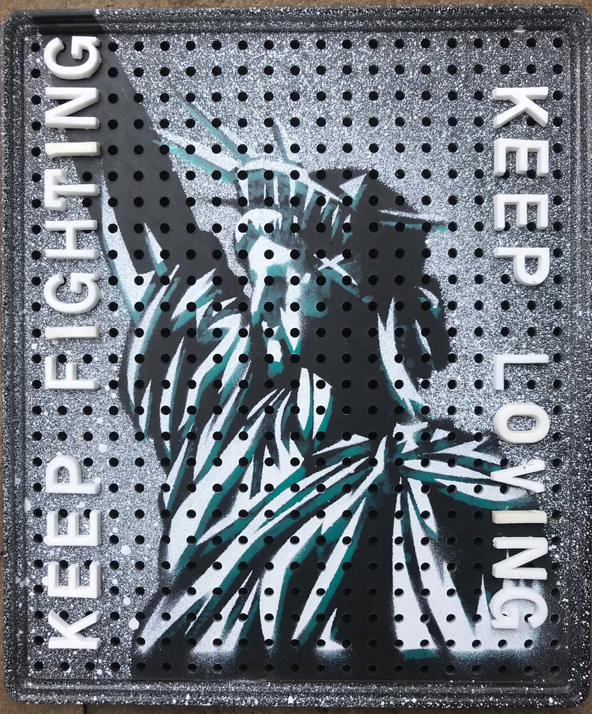 Keep Fighting - Keep Loving ! America's Nightmare on 1950's Movitex message and price panels
