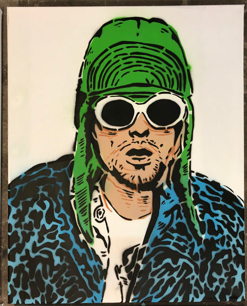 Cartoonneros - Kurt Cobain portrait blue