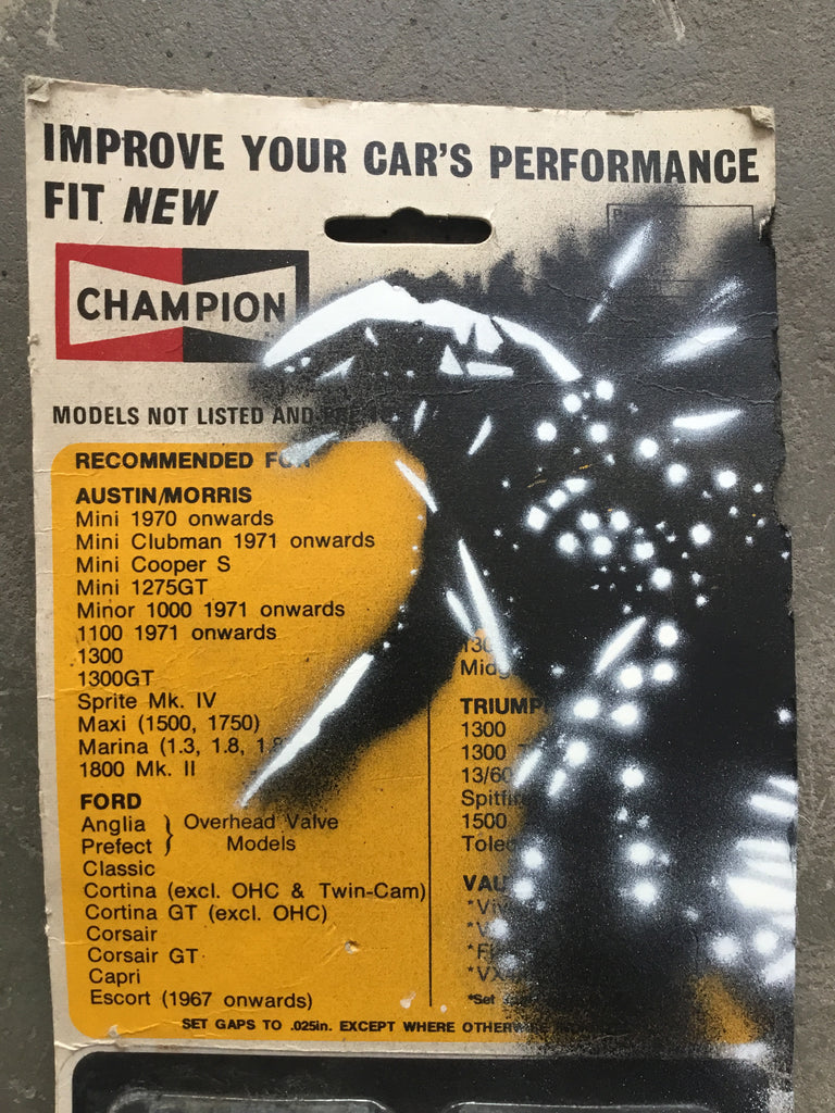 5G Godzilla on 1960's CHAMPION spark plug blister pack