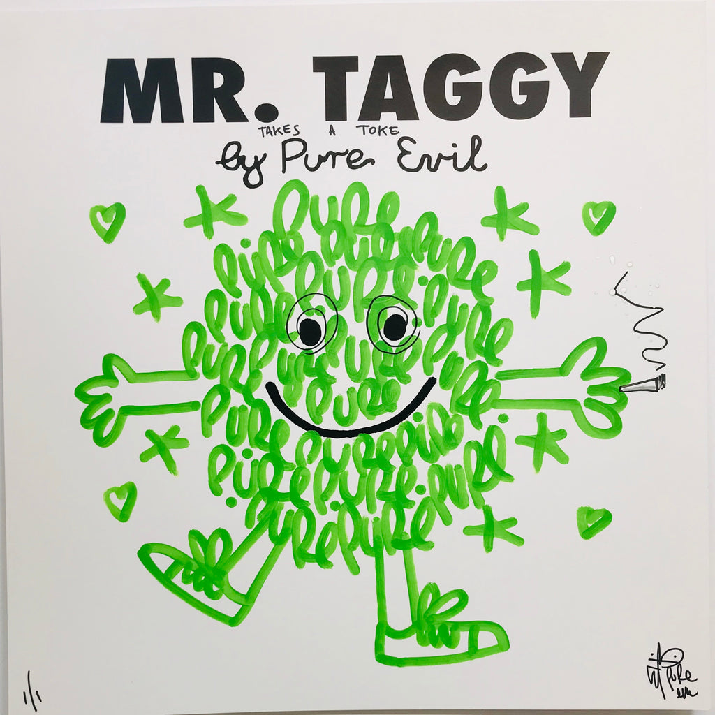 Mr Taggy takes a toke