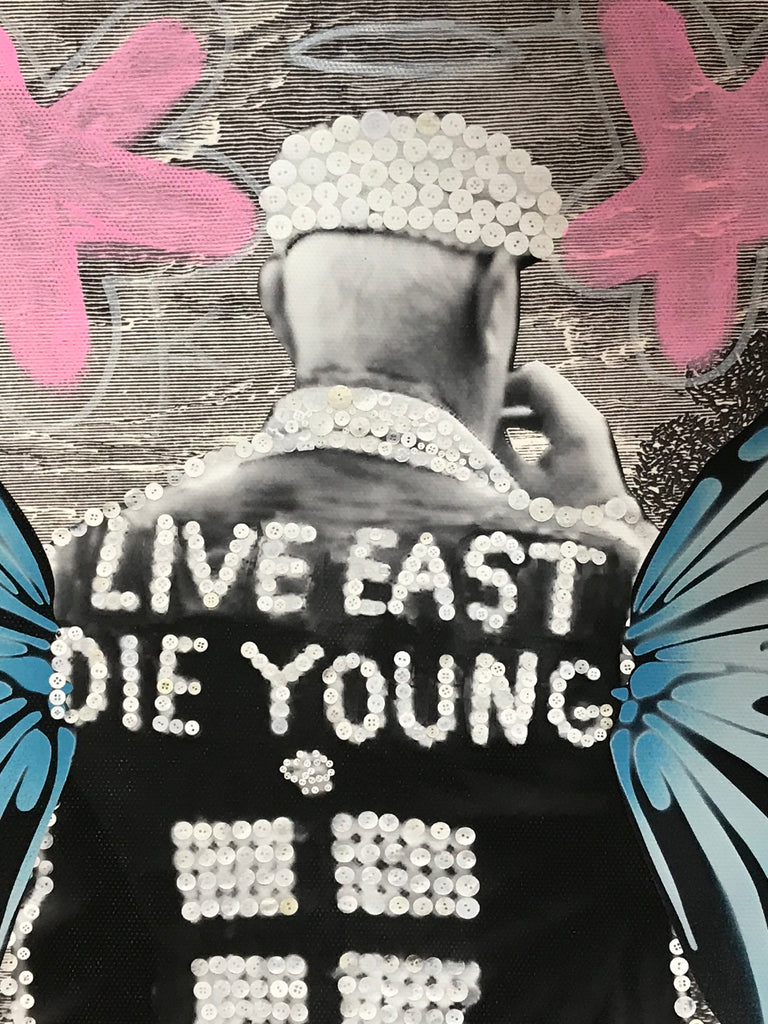 Pearly King - Working Class Royalty - Tagged Canvas