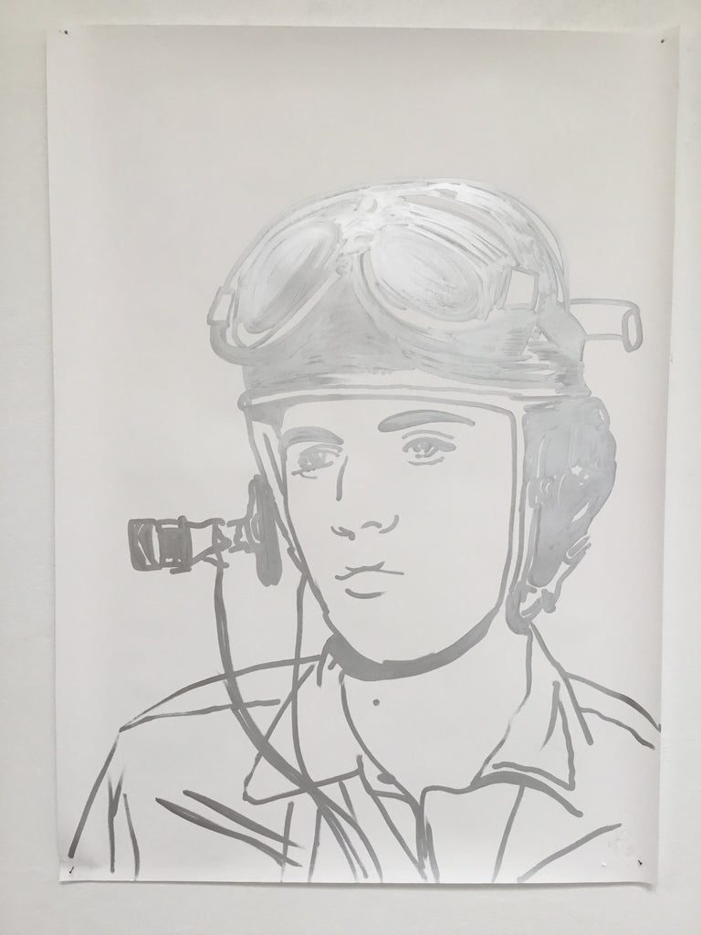 Army Elvis - Swedish Show KRINK drawing on paper
