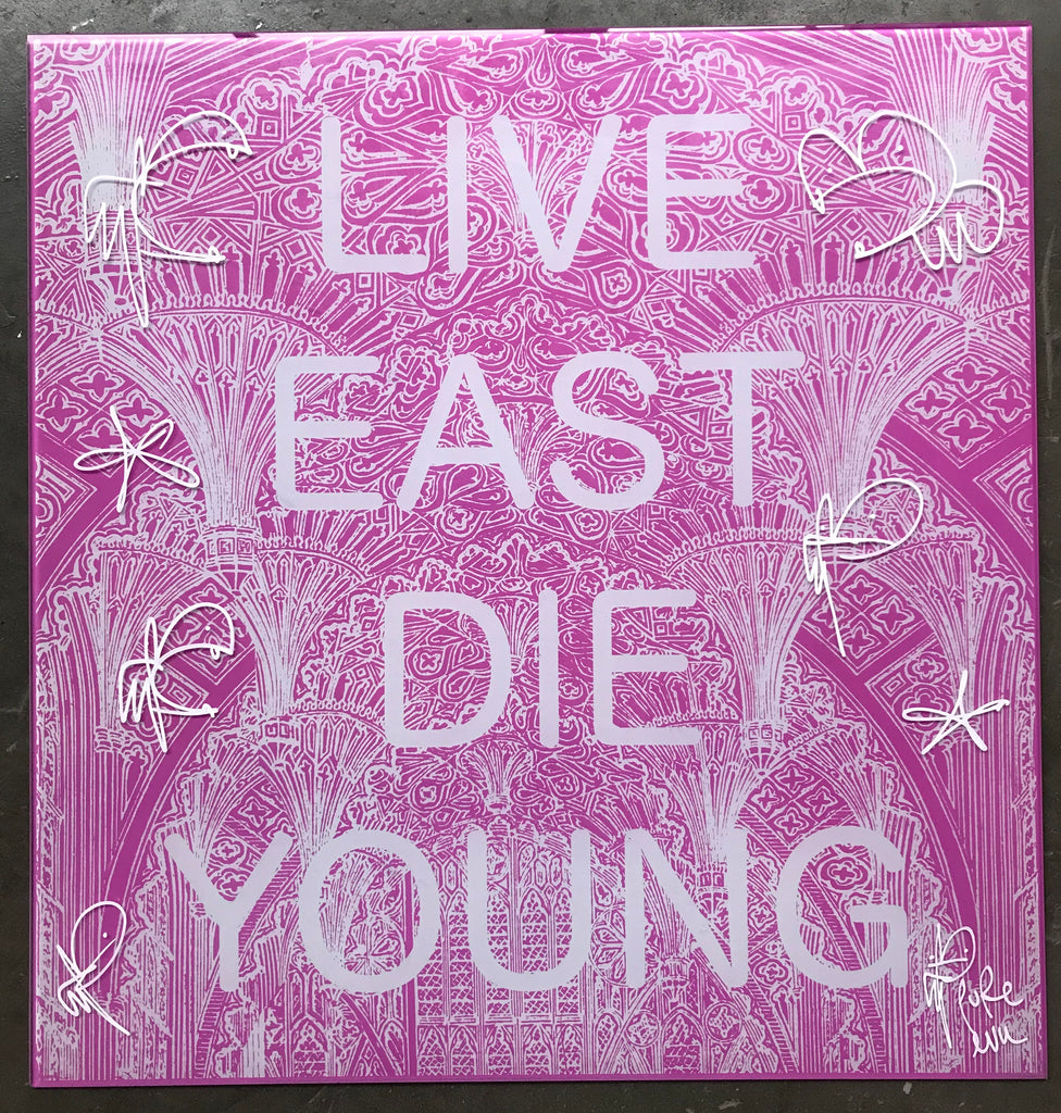 Live East Die Young - Screenprint on Toughened Glass
