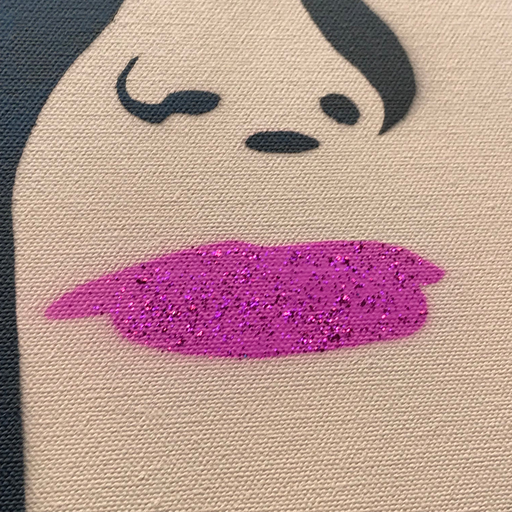 Free Melania! - Pink Sparkle Lips with Bunny tags