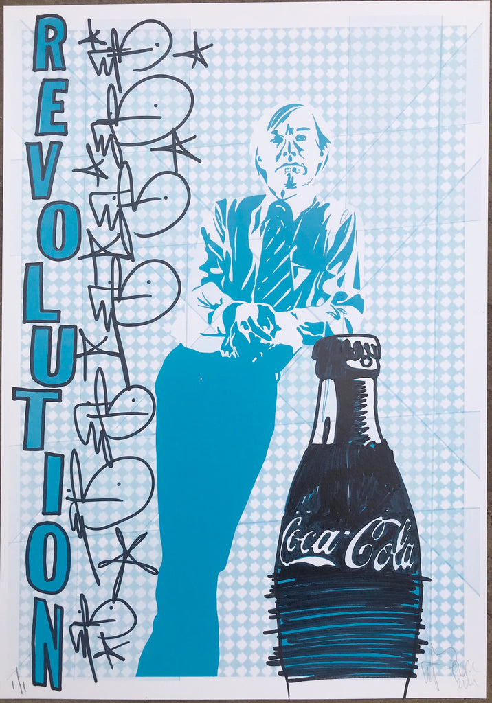 Handfinished print - Warhol Coke
