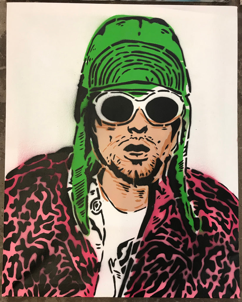 Cartoonneros - Kurt Cobain portrait pink