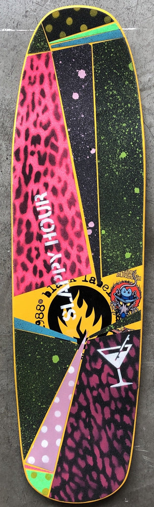 Slappy Hour Concrete Club Deck - Multi Grip Tape
