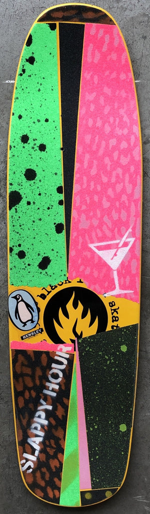 Slappy Hour Concrete Club Deck - Multi Grip Tape 2