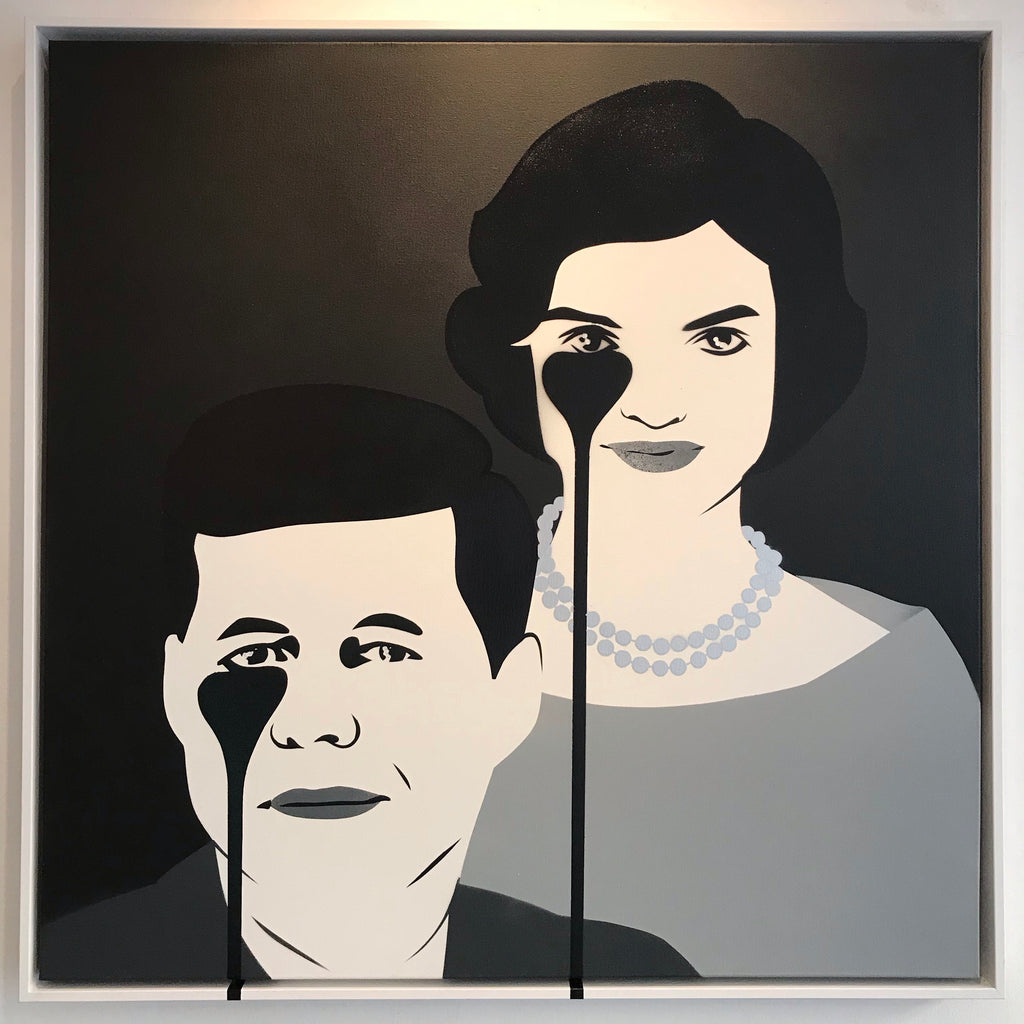 JFK & Jackie - Monochrome Framed BROTHERSHIP