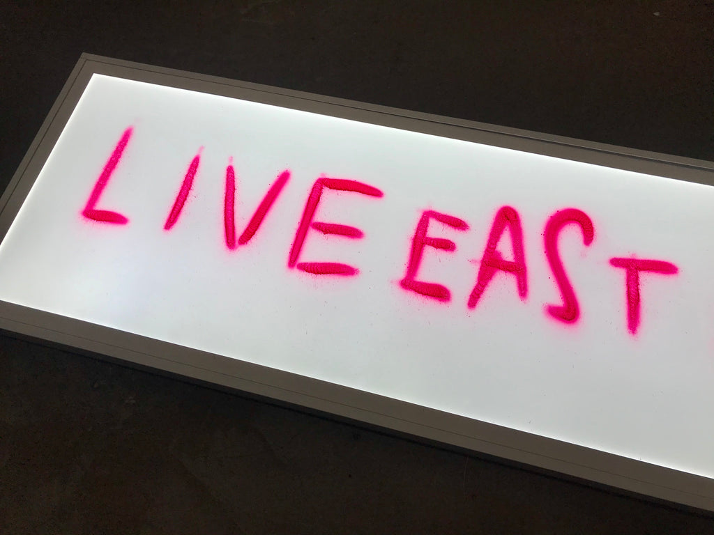 Live East Die Young LED box