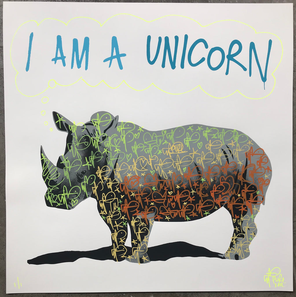 I am a Unicorn - Reversed Bunny Tag