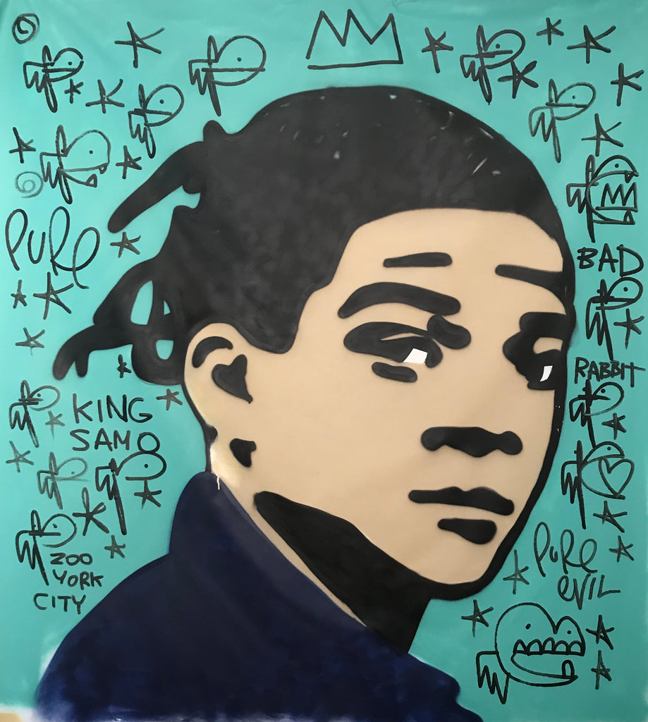 Basquiat Large freehand spraypaint CANVAS