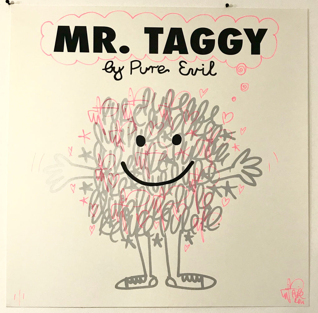 Handfinished Mr. Taggy by Pure Evil