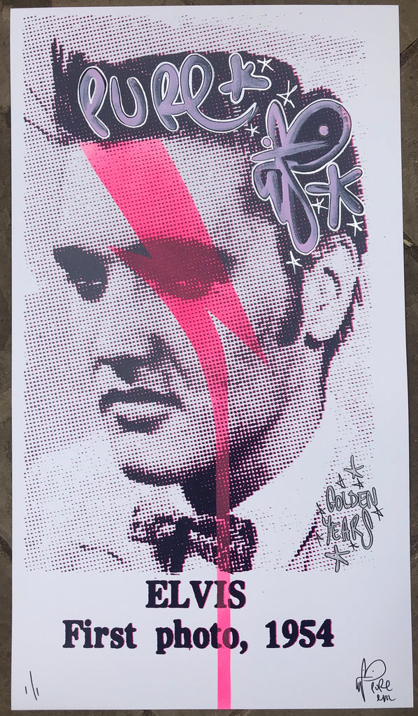 ELVIS GLAM Handfinished and Stencilled - Golden Years