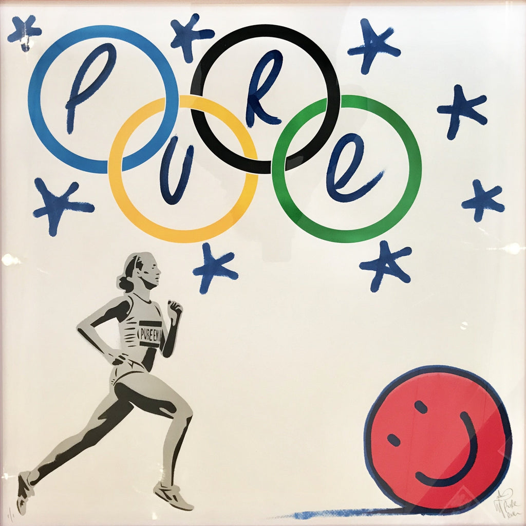 New Logo for the Smiley Olympic Team Framed