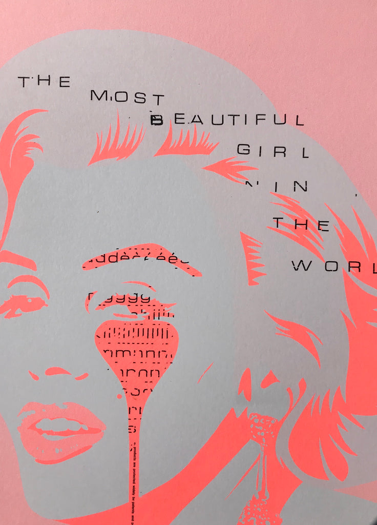 Handfinished mini print - Marilyn Glam - The most beautiful girl in the world