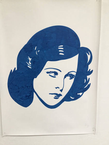 Hedy Lamarr - Swedish Show KRINK drawing on paper