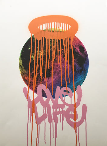 Zakee Shariff & Nick Shipton - Earth & Love Rainbow / Love Life Supermoon print
