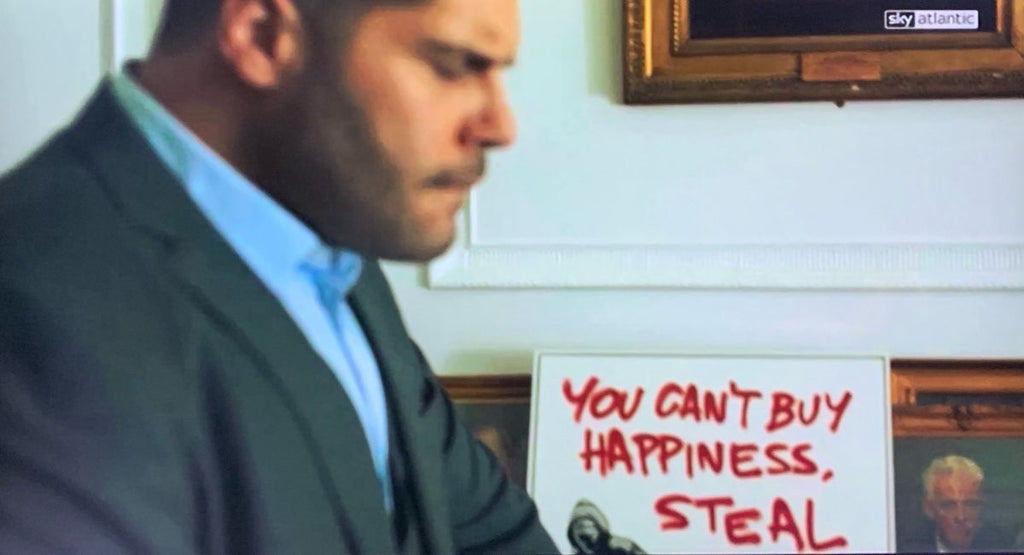 You can't buy happiness , steal it - Gomorrah Canvas
