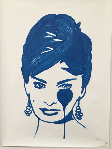 Sophia Loren - Swedish Show KRINK drawing on paper