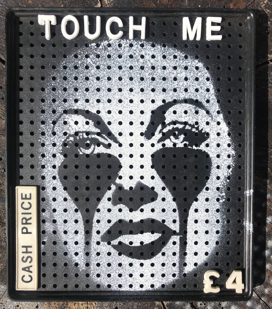 Touch me - Hedy Lamarr on 1950's Movitex message and price panels