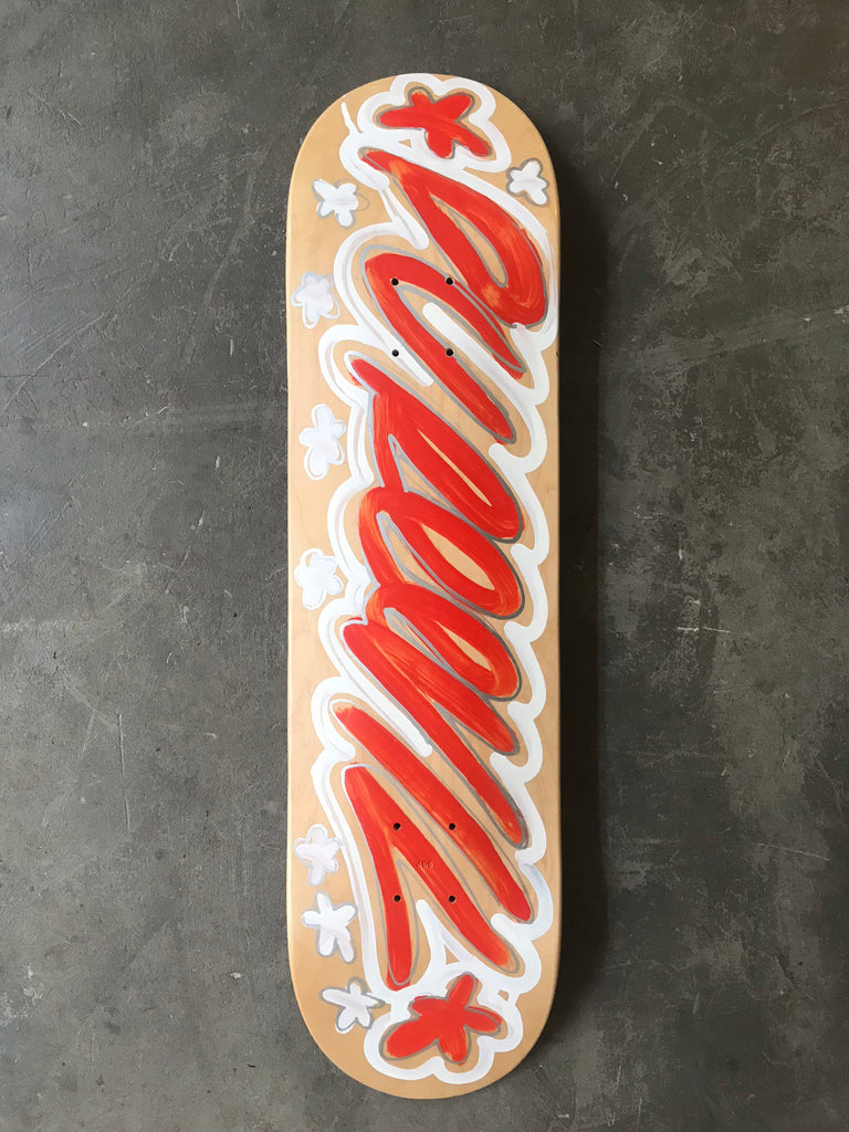 Soft Tech Font Red & White- Pure Evil Skateboard Company