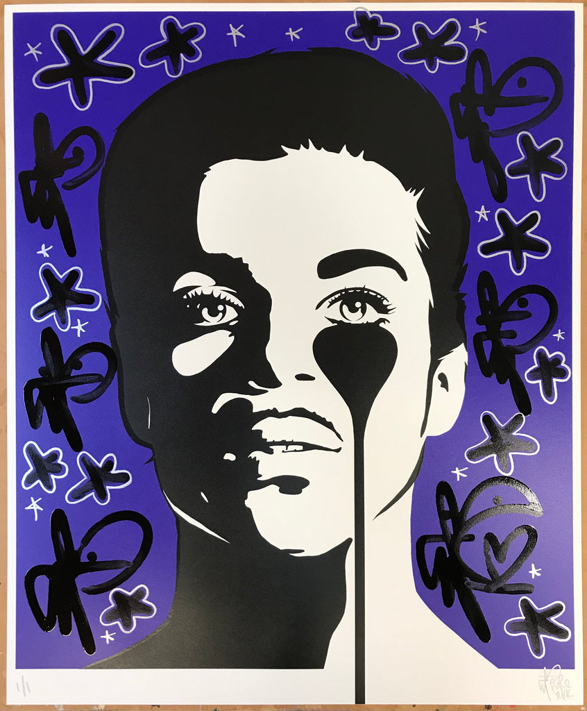 Handfinished Prince Print - Purple Rain