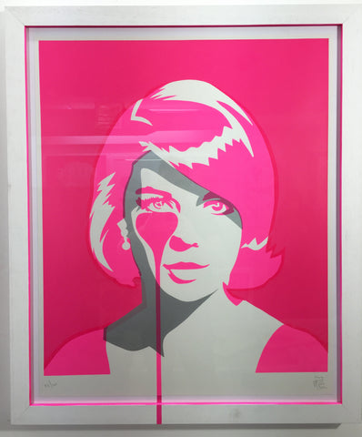 Natalie Wood - Christopher Walken's Nightmare - Double Exposure Pink in Neon Glowing Frame