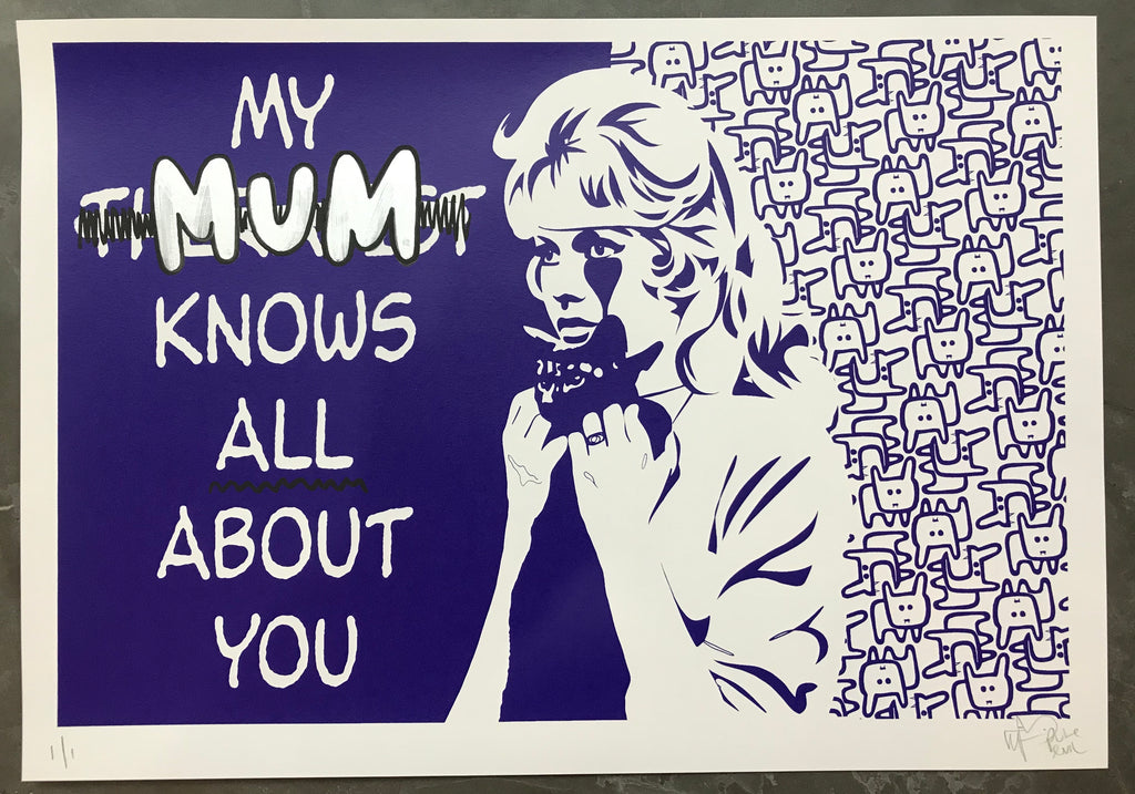 Handfinished Art Car Boot Fair - My MUM knows all about you