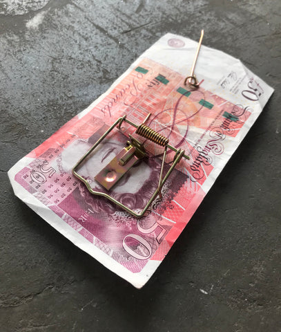 "Money Trap Great British 50 Pound note ""Bullseye"" 15/100"