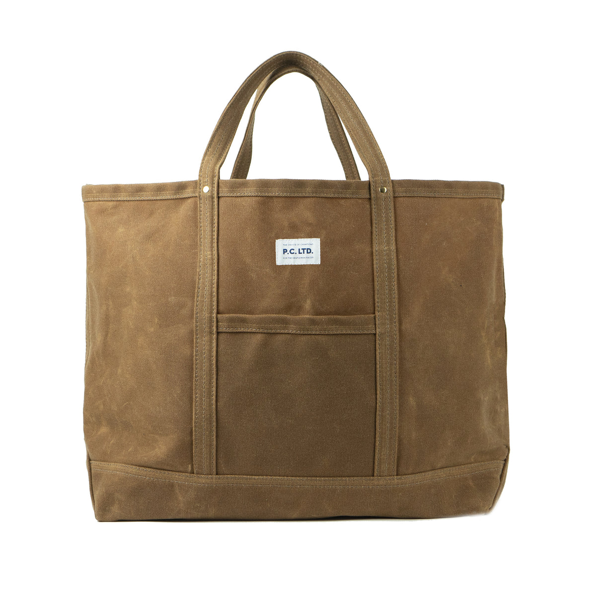 WAX CANVAS TOTE BAG BROWN