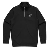 PERIOD CORRECT HALF ZIP SWEATER BLACK