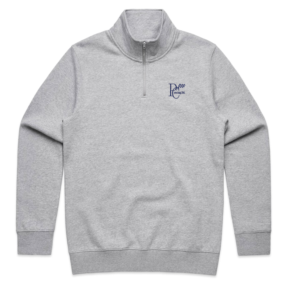 PERIOD CORRECT HALF ZIP SWEATER GRAY